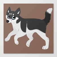 husky Canvas Prints featuring Husky by Sarah