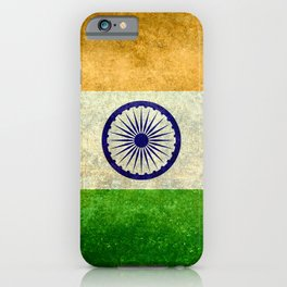 Flag of India - Grungy Vintage iPhone Case
