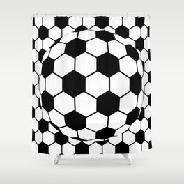 Black and White 3D Ball pattern deign Shower Curtain