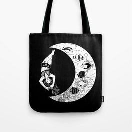 Scout Swims With The Moon Tote Bag