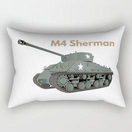 Sherman American WW2 Tank Rectangular Pillow