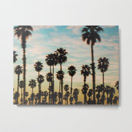 Palm Tree Sky Metal Print