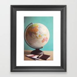 Travel planning Framed Art Print