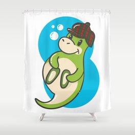 Cute Scottish Nessie with bonnet Shower Curtain