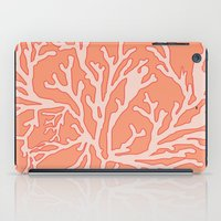coral iPad Cases featuring Coral by victoria negrin