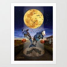 Halloween - Last Stop? Art Print