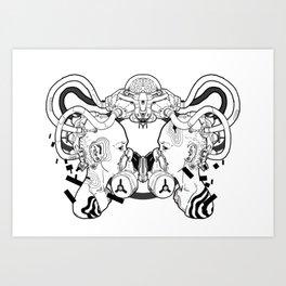 twin mech Art Print