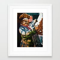 chef Framed Art Prints featuring Chef by Five Ate Five Studios