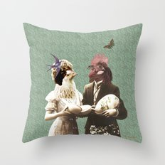 Mr & Ms Chick Throw Pillow