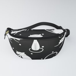 French Cats - Black Fanny Pack