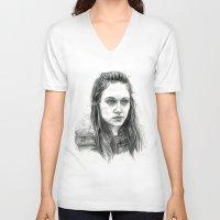 jem V-neck T-shirts featuring Jem Walker by laya rose