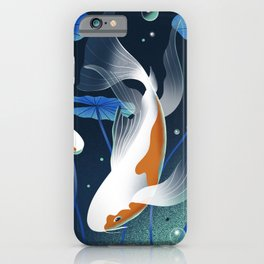 Koi Fishes in a Pond iPhone Case