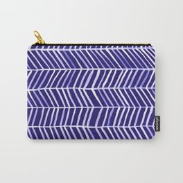 Herringbone – Navy & White Carry-All Pouch