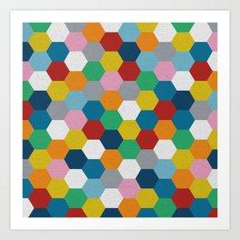 Honeycomb 3 Art Print