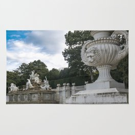 Neptune Fountain in the Schönbrunn Palace Park Vienna Austria Rug