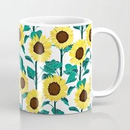 Sunny Sunflowers - White Coffee Mug