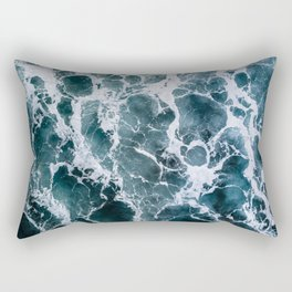 Minimalistic Veins in a Wave  - Seascape Photography Rectangular Pillow
