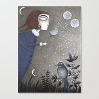 twilight Canvas Prints featuring Winter Twilight by Judith Clay