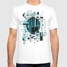 Reticent. SMALL White Mens Fitted Tee