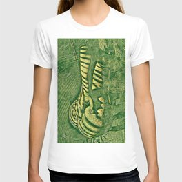 6778s-NLJ Motherboard Style Nude Woman Hand On Back T-shirt