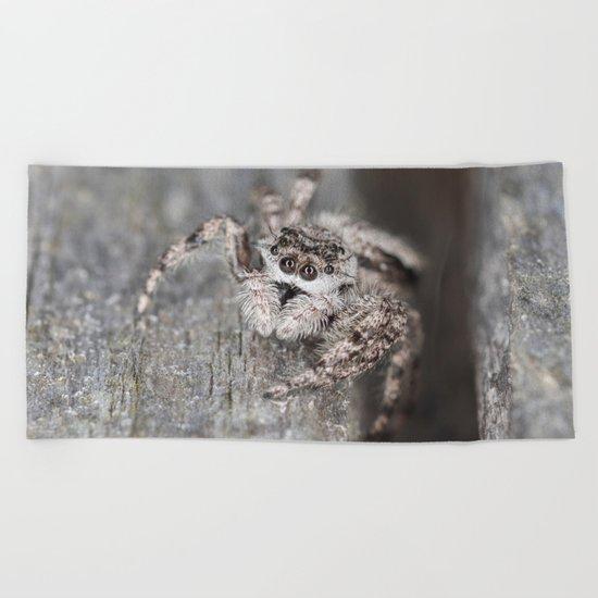 Jumping Spider Beach Towel