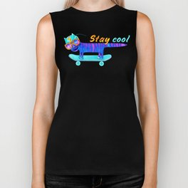 Cat Stay Cool Biker Tank