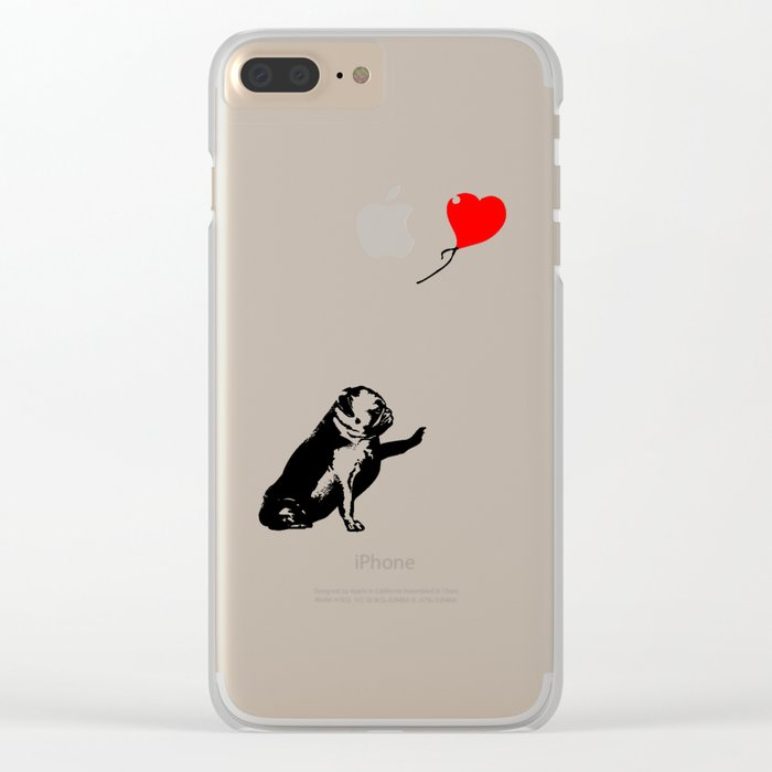 Pugsy Clear iPhone Case