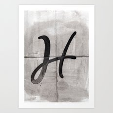 - H - Art Print