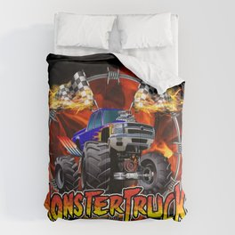 Monster Truck blue on Fire                                          Comforters