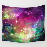 dragons Wall Tapestries featuring Space Dragons by Roger Wedegis