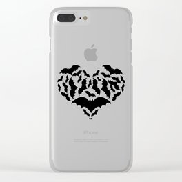 Batty Love Clear iPhone Case