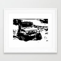 jeep Framed Art Prints featuring Jeep by Bwoodstockfoto