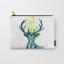 Blue Deer in the Headlight Carry-All Pouch