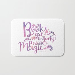 Books are Uniquely Portable Magic Bath Mat