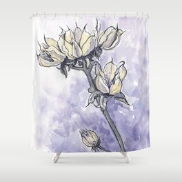 Dried Wild Flowers  Shower Curtain