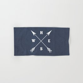 Compass arrows Hand & Bath Towel
