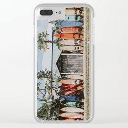 lets surf vi / maui, hawaii Clear iPhone Case