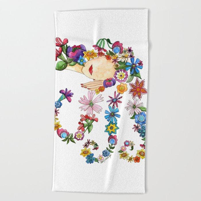 Sleeping Beauty Beach Towel
