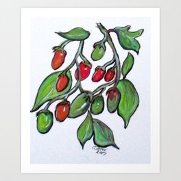 Pomodoro Buds Art Print
