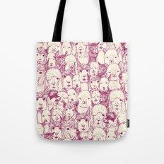 just alpacas cherry pearl Tote Bag