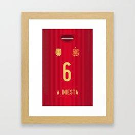 iPhone6 Iniesta Mobile Case Framed Art Print