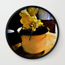 Still Life with Leaning Ice Cream of Gold Wall Clock