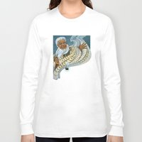 maori Long Sleeve T-shirts featuring Koro, the Maori Storyteller by Patricia Howitt
