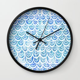 Watercolor Mermaid Aquamarine Wall Clock