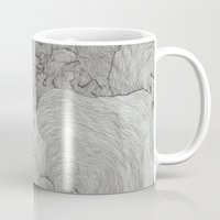 the strokes Mugs featuring Strokes by Sarah Renee G.