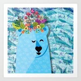 Polar Bear: Peace Art Print