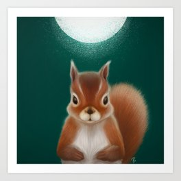 The nutty cutie Art Print