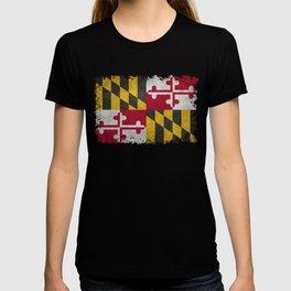 Maryland State flag - Vintage retro style T-shirt