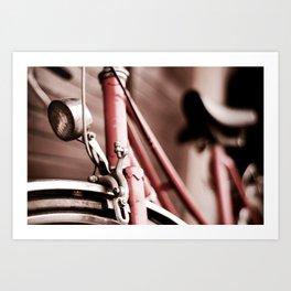 Pink Bicycle Art Print