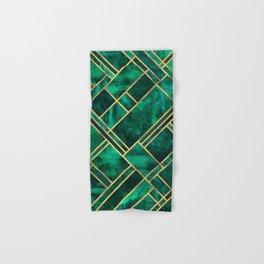 Emerald Blocks Hand & Bath Towel